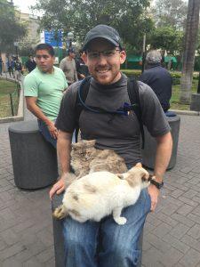 Enjoying the felines at Kennedy Park