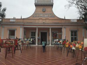 The central square in Barranco- the art district.