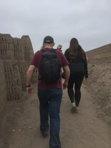 Hiking around the ruins in Lima, Peru.